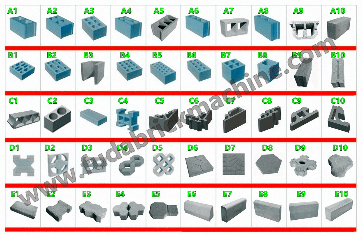 QT10-15 fully automatic concrete interlocking brick making machine hollow cement